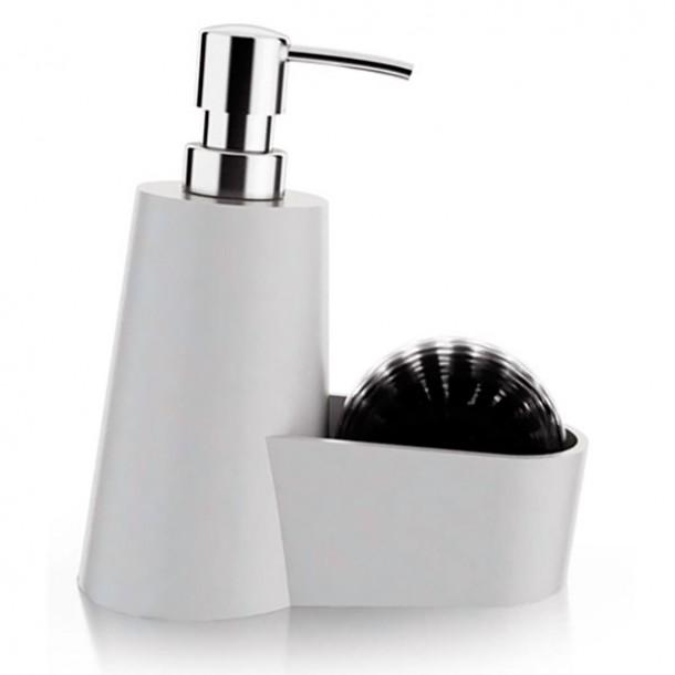 Set lavapiatti bianco con spazzolina